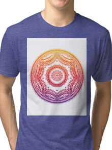 Circle Design - Rainbow Tri-blend T-Shirt