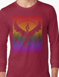 Team Valor Word Pride Pattern Long Sleeve T-Shirt