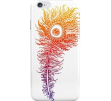 Rainbow Themed Zentangle Peacock Feather iPhone Case/Skin