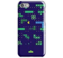 Blockade of the Pac-Man Invaders in the Tetris Dimension! iPhone Case/Skin