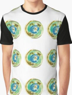 Not Quite Earth Abstract Map Graphic T-Shirt