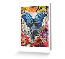 Gilded Butterfly Collage Greeting Card