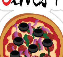 Black Olives Matter Sticker