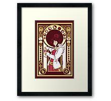 Nerd girl Framed Print