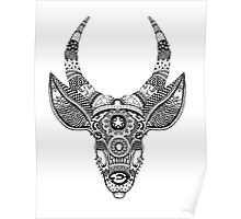 Deer with Horns - Rainbow Poster