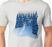 The Blue Box in the Snow Unisex T-Shirt