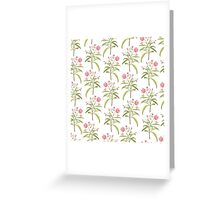 Tropical Jungle Flowers Greeting Card