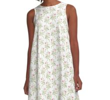 Tropical Jungle Flowers A-Line Dress