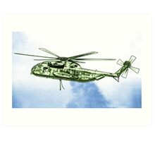 CH-53G Flying with Powerful Force Art Print