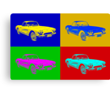 1962 Chevrolet Corvette Convertible Pop Art Canvas Print