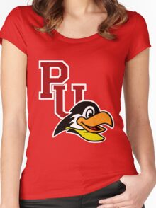 Pennbrook University Penguins Women's Fitted Scoop T-Shirt