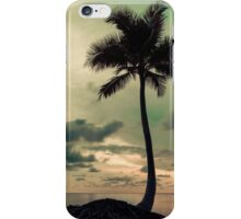 Palm tree with Retro summer filter effect iPhone Case/Skin