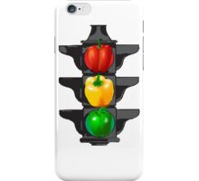Bell Pepper Stop Light (Red, Green, Yellow) iPhone Case/Skin