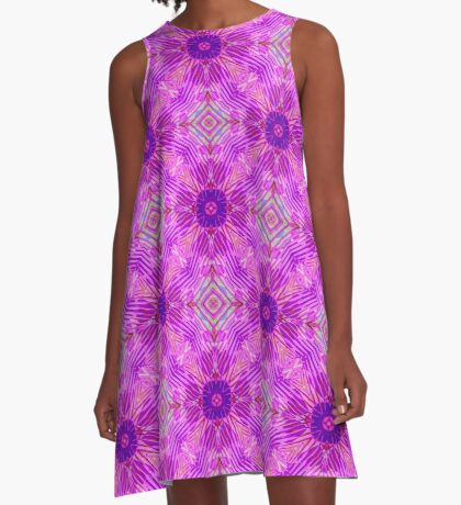 Pink Abstract A-Line Dress