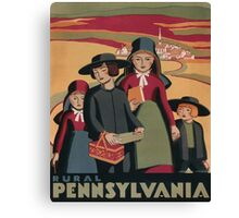 Rural Pennsylvania - Vintage Wpa Travel Canvas Print