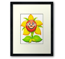 happy flower Framed Print