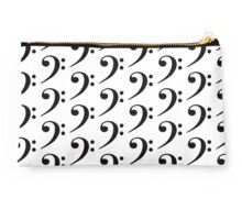Bass Clef - Black Studio Pouch