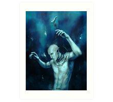 Oceans so deep, he will drown in his sleep Art Print
