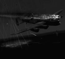 Layne's Lancaster black and white version by Gary Eason + Flight Artworks