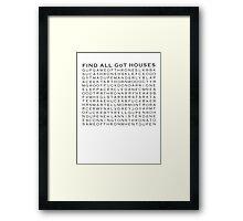 Game of Thrones Crosswords Framed Print