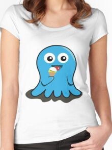 blue ice cream Women's Fitted Scoop T-Shirt