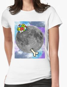 Moon with Details Womens Fitted T-Shirt