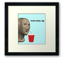 heckin babby sip Framed Print