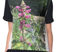 Pink Flowers of the Pacific Northwest Oregon Chiffon Top