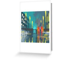rain and city lights Greeting Card