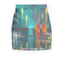 rain and city lights Mini Skirt
