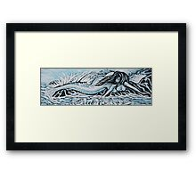 Blue Mermaid Framed Print