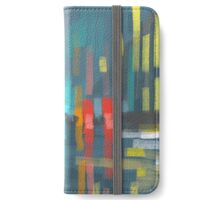 rain and city lights iPhone Wallet/Case/Skin