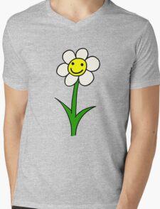 My Happy Flower - cartoon, smiling Mens V-Neck T-Shirt