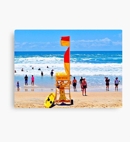 'Swim Between The Flags'. Canvas Print