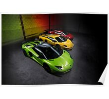 Lamborghini Aventador SV Roadster Traffic Lights Poster