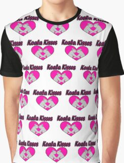 Koala Kisses Pattern Graphic T-Shirt