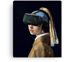 Girl With The Oculus Rift Canvas Print