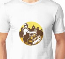 Bartender Beer City Van Circle Retro Unisex T-Shirt