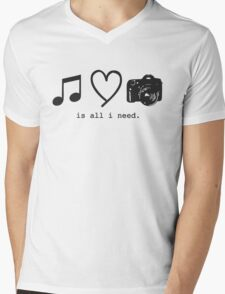 Music, Love, and Photography Mens V-Neck T-Shirt