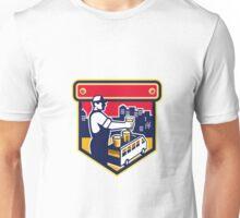 Bartender Beer City Van Crest Retro Unisex T-Shirt