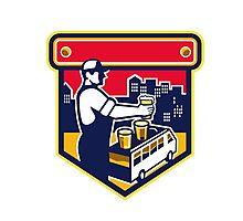 Bartender Beer City Van Crest Retro Photographic Print