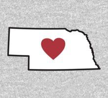 I Love Nebraska Kids Clothes