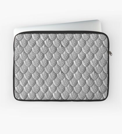 Dragon Scale Armor - Silver Laptop Sleeve