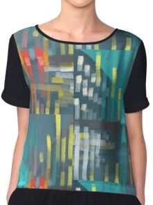 rain and city lights Chiffon Top