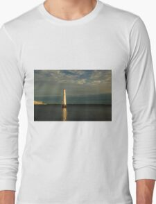 Port Mebourne Front Lighthouse, Melbourne Long Sleeve T-Shirt