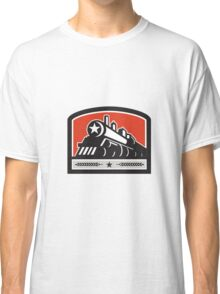 Steam Train Locomotive Star Crest Retro Classic T-Shirt