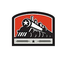 Steam Train Locomotive Star Crest Retro Photographic Print