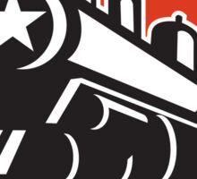 Steam Train Locomotive Star Crest Retro Sticker