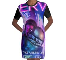 Nerve Film Graphic T-Shirt Dress