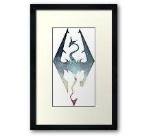 Skyrim Logo - Blue gradient Framed Print